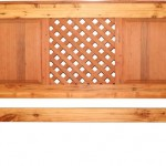 Bedroom: Lattice Headboard With Solid Panel