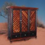Cabinet: Lattice 3 door TV unit