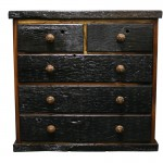 Chest of Drawers: 5 drawer low cabinet