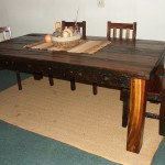 Dining Room: African Rectangular with Block Foot