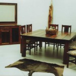 Dining Room: African Square with Block Foot