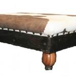 Sitting Room: Ottoman with Nguni Hide