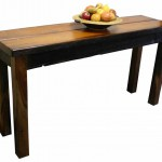Tables: Hall table with solid top & square foot